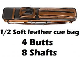 4B 8S Soft pool cue case (Dark and light brown)