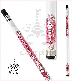 Scorpion SCO107 White and Pink pool cue